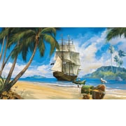 RoomMates® Pirate Chair Rail Prepasted Wall Mural, 6 ft H x 10 1/2 ft W