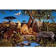 RoomMates® Jungle Chair Rail Prepasted Wall Mural, 6 ft H x 10 1/2 ft W