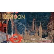 RoomMates® Streets of London Chair Rail Prepasted Wall Mural, 6 ft H x 10 1/2 ft W