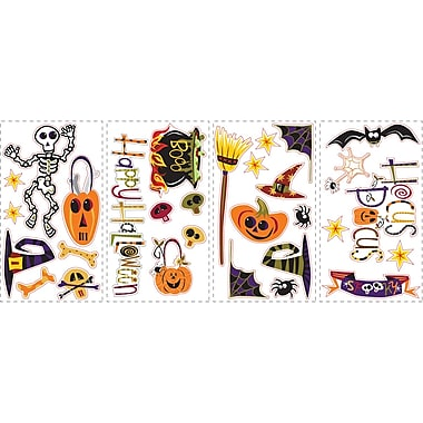 RoomMates® Happy Halloween Peel and Stick Wall Decal, 10in. H x 18in. W