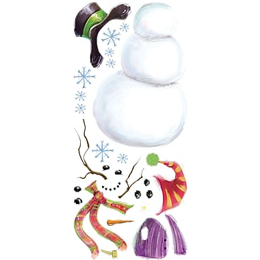 RoomMates® Build A Snowman Peel and Stick Wall Decal, 18in. H x 40in. W
