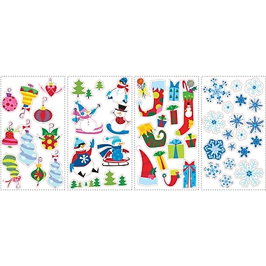 RoomMates® Let It Snow Peel and Stick Wall Decal, 10in. H x 18in. W