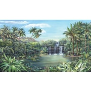 RoomMates® Tropical Lagoon Chair Rail Prepasted Wall Mural, 6 ft H x 10 1/2 ft W