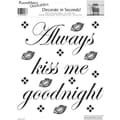 RoomMates® Always Kiss Me Goodnight Quote Peel and Stick Wall Decal, 10in. x 13in.