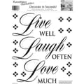 RoomMates® Live Well, Laugh Often, Love Much Quote Peel and Stick Wall Decal, 10in. x 13in.