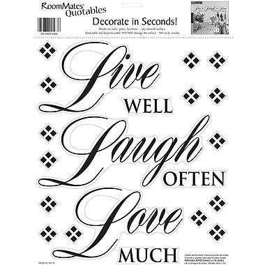 RoomMates® Live Well, Laugh Often, Love Much Quote Peel and Stick Wall Decal, 10