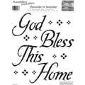 RoomMates® God Bless This Home Quote Peel and Stick Wall Decal, 10in. x 13in.