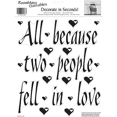 RoomMates® All Because Two People Fell In Love Quote Peel and Stick Wall Decal, 10