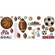 RoomMates® Play Ball Peel and Stick Wall Decal, 10 x 18