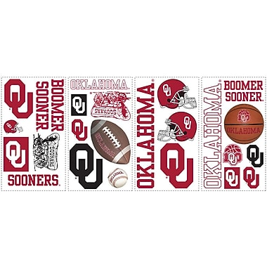 RoomMates® University of Oklahoma® Peel and Stick Wall Decal, 10in. x 18in.