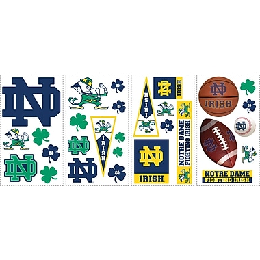 RoomMates® University of Notre Dame® Peel and Stick Wall Decal, 10in. x 18in.