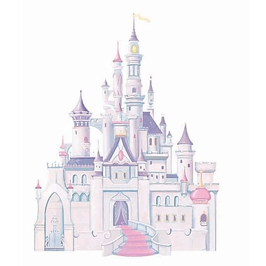 RoomMates® Disney Princess Castle Peel and Stick Giant Wall Decal with Glitter, 18in. x 40in., 9in. x 40in.