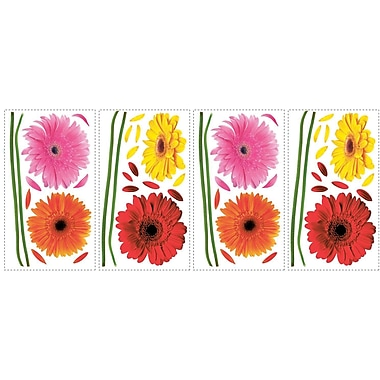 RoomMates® Small Gerber Daisies Peel and Stick Wall Decal, 10in. x 18in.
