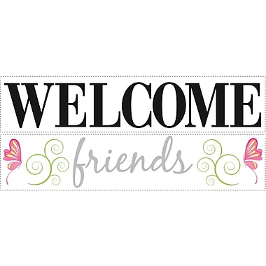 RoomMates® Welcome Friends Quote Peel and Stick Wall Decal, 10in. x 18in.