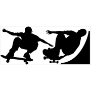 "RoomMates® Skaters Chalkboard Peel and Stick Wall Decal, 18"" H x 40"" W"