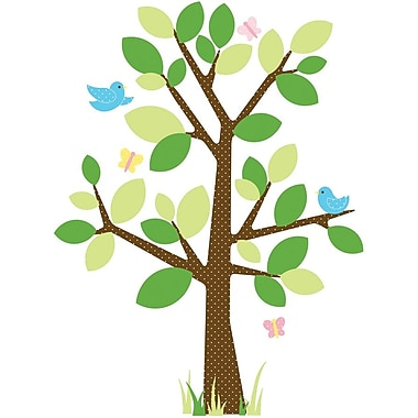 RoomMates® Dotted Tree Peel and Stick Giant Wall Decal, 40in. x 18in., 40in. x 9in.