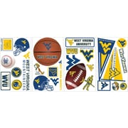 "RoomMates® West Virginia University® Peel and Stick Wall Decal, 10"" x 18"""