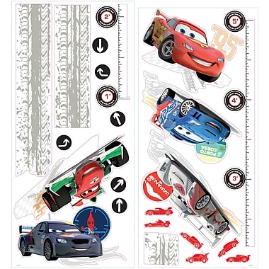 RoomMates® Cars 2 Growth Chart Peel and Stick Growth Chart, 18in. x 40in.