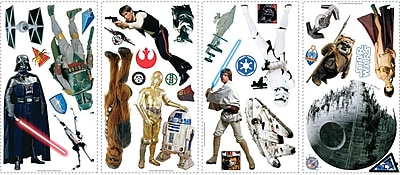 """""RoomMates Star Wars Classic Peel and Stick Wall Decal, 10"""""""" x 18"""""""""""""" 135864"