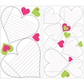 RoomMates® Heart Notepad Dry Erase Peel and Stick Wall Decal, 10in. x 18in.
