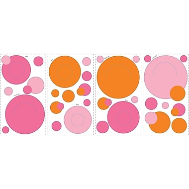 RoomMates® Pink and Orange Peel and Stick Wall Pocket Decal, 10in. x 18in.