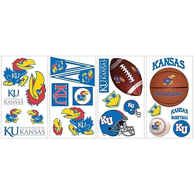 RoomMates® University of Kansas® Peel and Stick Wall Decal, 10in. x 18in.