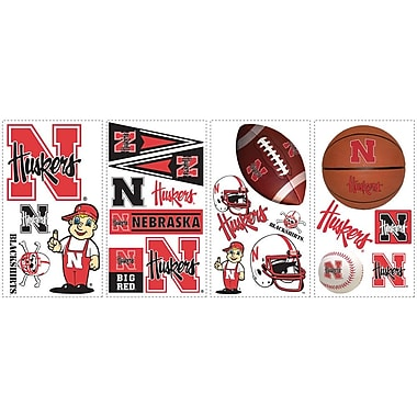RoomMates® University of Nebraska™ Peel and Stick Wall Decal, 10in. x 18in.