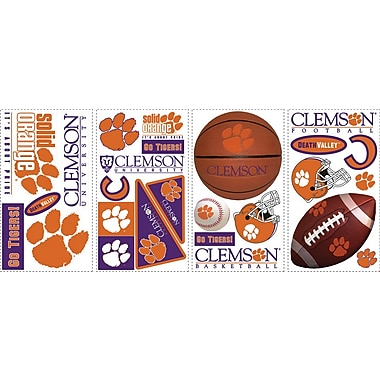 RoomMates® Clemson University® Peel and Stick Wall Decal, 10in. x 18in.