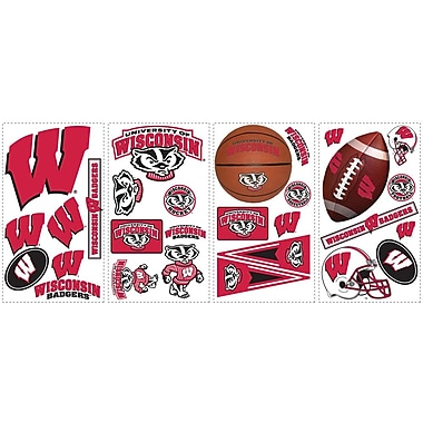 RoomMates® University of Wisconsin® Peel and Stick Wall Decal, 10in. x 18in.