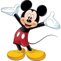 RoomMates® Mickey Mouse Peel and Stick Giant Wall Decal with Augmented Reality, 18in. x 40in., 9in. x 40in.