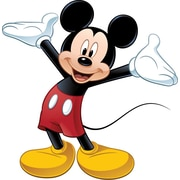 "RoomMates® Mickey Mouse Peel and Stick Giant Wall Decal with Augmented Reality, 18"" x 40"", 9"" x 40"""