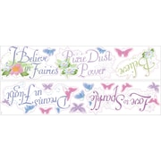 "RoomMates® Disney Fairies Phrases Peel and Stick Wall Decal with Glitter, 9"" x 40"""