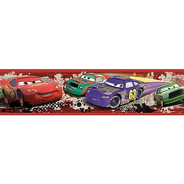 RoomMates® Cars Piston Cup Racing Peel and Stick Border, Multi-color, 180in. L x 5in. H