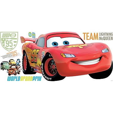 RoomMates® Cars 2 Lightning McQueen Peel and Stick Giant Wall Decal, 18in. x 40in.