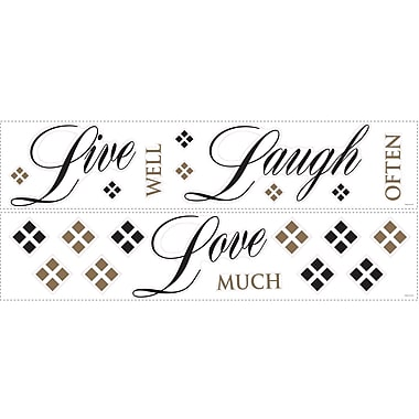 RoomMates® Live, Love, Laugh Quote Peel and Stick Wall Decal, 18