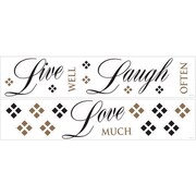 "RoomMates® Live, Love, Laugh Quote Peel and Stick Wall Decal, 18"" x 40"""