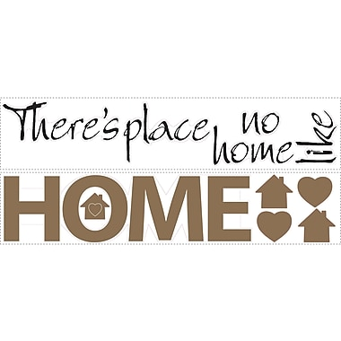 RoomMates® No Place Like Home Quote Peel and Stick Wall Decal, 7 1/2in. x 28in.