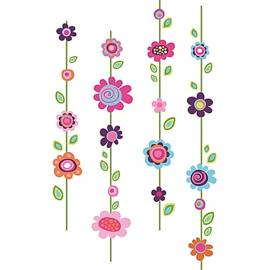 RoomMates® Flower Stripe Peel and Stick Giant Wall Decal, 18in. x 40in., 9in. x 40in.