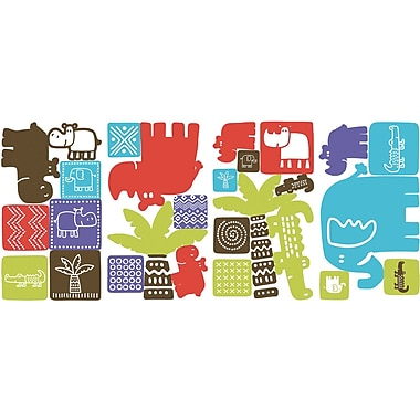 RoomMates® Safari Blocks Peel and Stick Wall Decal, 10