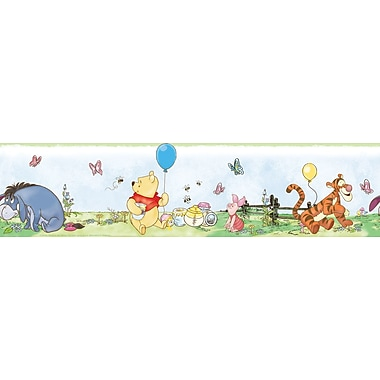 RoomMates® Winnie the Pooh Peel and Stick Wall Border, Multi-color, 180in. L x 5in. H