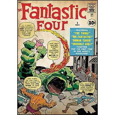 RoomMates® Fantastic Four Issue #1 Comic Cover Peel and Stick Giant Wall Decal, 27in. x 40in.