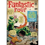 RoomMates® Fantastic Four Issue #1 Comic Cover Peel and Stick Giant Wall Decal, 27 x 40