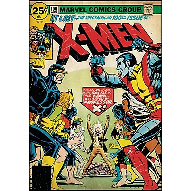 RoomMates® X-Men Issue #100 Comic Cover Peel and Stick Giant Wall Decal, 27in. x 40in.