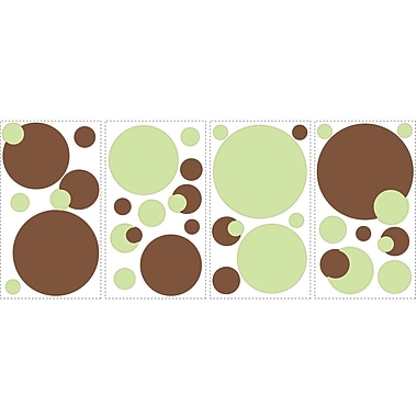RoomMates® Just Dots Green/Brown Peel and Stick Wall Decal, 10in. x 18in.