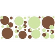 "RoomMates® Just Dots Green/Brown Peel and Stick Wall Decal, 10"" x 18"""