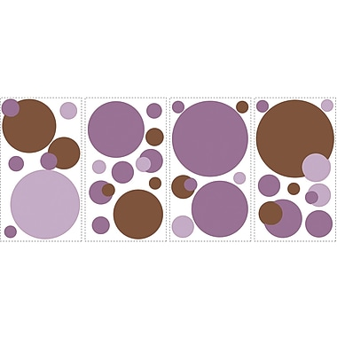 RoomMates® Just Dots Purple/Brown Peel and Stick Wall Decal, 10in. x 18in.