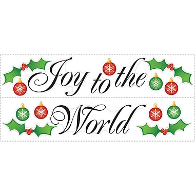 RoomMates® Joy to the World Peel and Stick Wall Decal, 18in. H x 10in. W