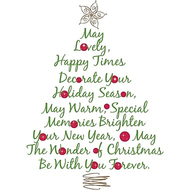 RoomMates® Christmas Tree Quote Peel and Stick Giant Wall Decal, 18in. H x 40in. W
