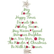 "RoomMates® Christmas Tree Quote Peel and Stick Giant Wall Decal, 18"" H x 40"" W"