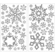 RoomMates® Glitter Snowflakes Peel and Stick Wall Decal, 18in. H x 10in. W